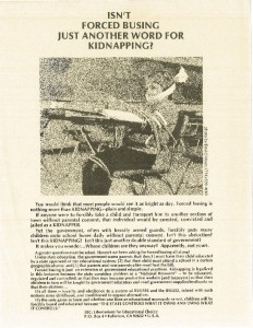 thumbnail-of-Poster -- Isn't Force Busing Just Another Word for Kidnapping